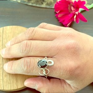Onyx Stone Sterling Silver Ring